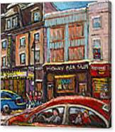Rue Saint Laurent Club Soda Montreal Canvas Print