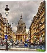 Rue Sufflot In Paris Canvas Print