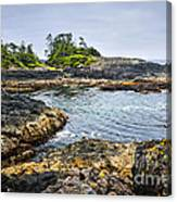 Rugged Coast Of Pacific Ocean On Vancouver Island Canvas Print