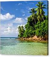 Rugged Lush Green Coastline Canvas Print