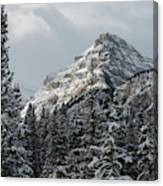 Rugged Mountain Peak With Snow Canvas Print