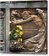 Ruggeri Roncoroni Guzzi Grave Marker Monumental Cemetery Milan Canvas Print