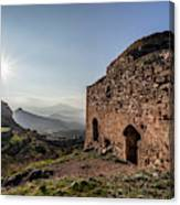 Ruins Of A Stone Building  Corinth Canvas Print