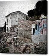 Ruins Of An Abandoned Farm House Canvas Print