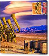 Ruins Of Fort James B. Polka And Prototype Gatling Tubas Canvas Print
