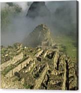 Ruins Of Machu Picchu Peru Canvas Print