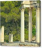 Ruins Of Roman Columns In Glanum  Canvas Print