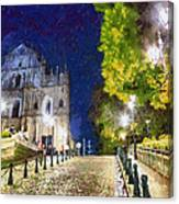 Ruins Of St. Paul's During At Night Canvas Print