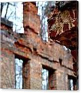 Ruins Of Sweetwater Manufacturing Company Canvas Print