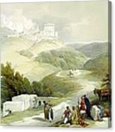 Ruins Of The Church Of St. John Sabaste 1839 Canvas Print