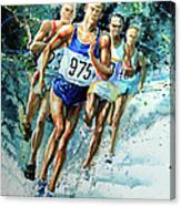 Run For Gold Canvas Print