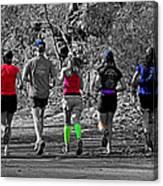 Run In The Park Canvas Print