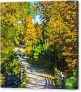 Runner's Path In Autumn Canvas Print