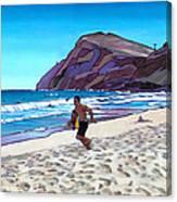 Running At Makapuu Canvas Print