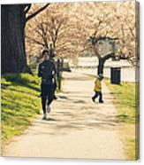 Running Blossoms Canvas Print