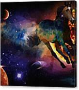 Running Horse Creation Canvas Print