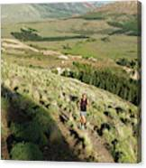 Running In Esquel, Chubut, Argentina Canvas Print
