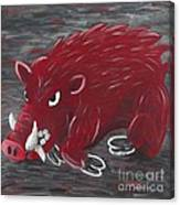 Running Razorback Canvas Print