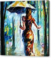 Running Towards Love - Palette Knife Oil Painting On Canvas By Leonid Afremov Canvas Print
