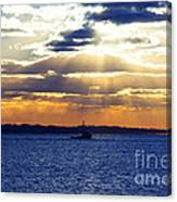 Running With The Light Canvas Print