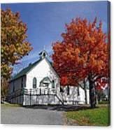 Rural Church In Autumn Canvas Print