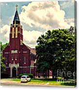 Rural Church Usa Canvas Print