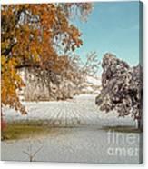 Rural Early Snow In Western Colorado  Canvas Print