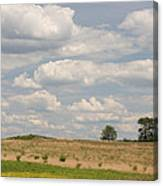 Rural Field Landscape In Maryland Canvas Print