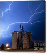 Rural Lightning Storm Canvas Print