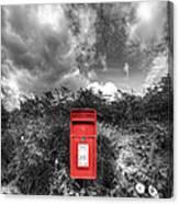 Rural Post Box Canvas Print