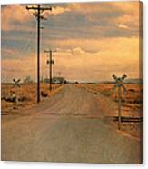 Rural Railroad Crossing Canvas Print
