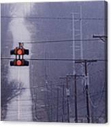 Rural Stop Light Canvas Print