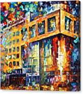 Rusbank Moscow Canvas Print
