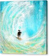 Rushing Beauty- Surfing Art Canvas Print