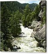 Rushing Water In Boulder Canyon Canvas Print