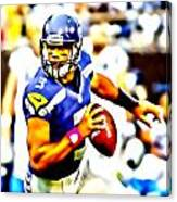 Russell Wilson In The Pocket Canvas Print