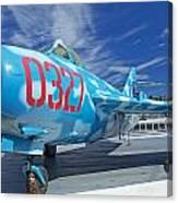 Russian Aircraft Mig At Interpid Museum Canvas Print