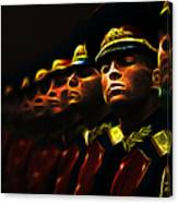Russian Honor Guard - Featured In Men At Work Group Canvas Print