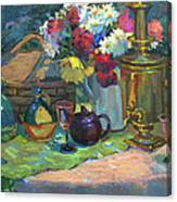 Russian Picnic Still Life Canvas Print
