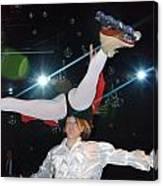 Russian Skating Dancers 2 Canvas Print
