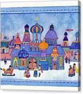 Russian Snowfall Fantasy Canvas Print