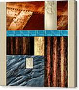 Rust And Rocks Rectangles Canvas Print