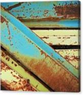 Rust N Turquoise Canvas Print