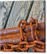 Rusted Chained Canvas Print