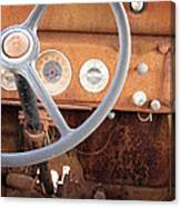 Rusted Dash Of Classic Car Canvas Print