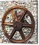 Rusted Gear Wheel Glacier National Park Montana Canvas Print