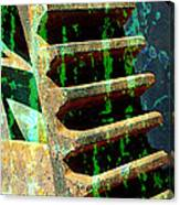 Rusted Gears Abstract Canvas Print