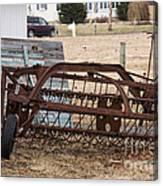 Rusted Hay Rake Canvas Print