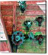 Rusted Valves Canvas Print