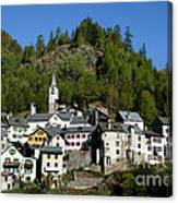Rustic Alpine Village Canvas Print